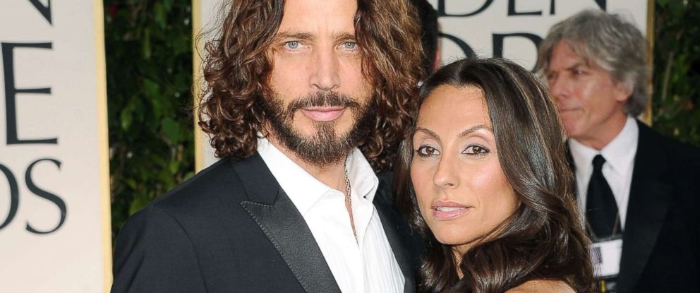 PHOTO: Chris Cornell and wife Vicky Karayiannis attend the 69th Annual Golden Globe Awards held at the Beverly Hilton Hotel, Jan. 15, 2012, in Beverly Hills, California.