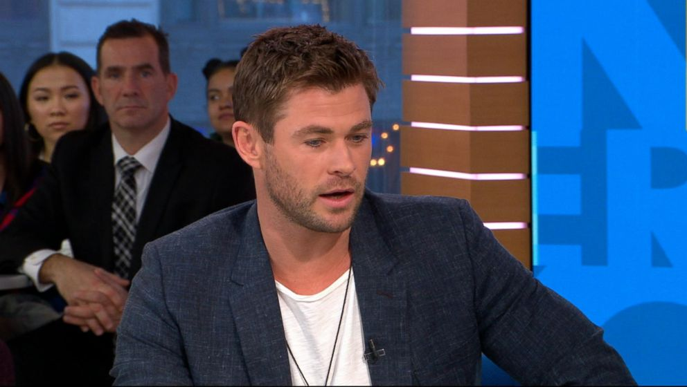 PHOTO: Chris Hemsworth appears on Good Morning America, Jan. 15, 2017.
