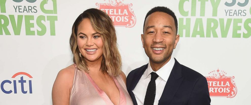 PHOTO: Chrissy Teigen and John Legend attend City Harvests 35th Anniversary Gala at Cipriani 42nd Street, April 24, 2018, in New York City.