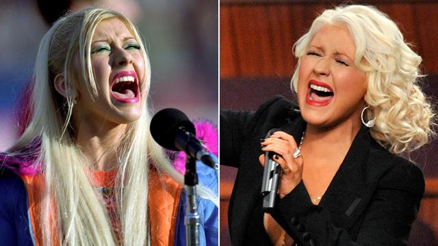 PHOTO: Christina Aguilera in 2012, right, and 1999.