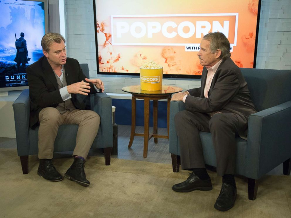 PHOTO: Christopher Nolan appears on Popcorn with Peter Travers at ABC News studios, July 19, 2017, in New York City.