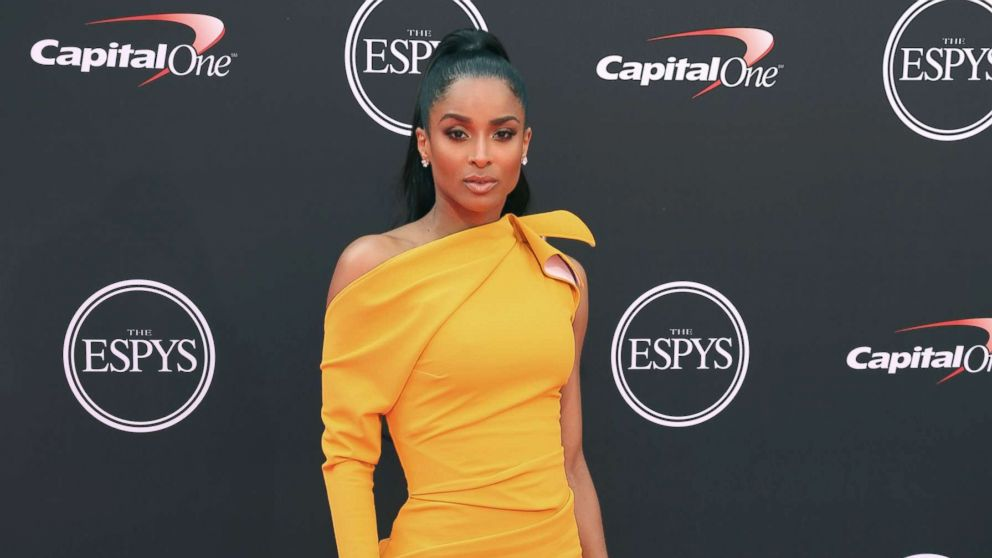 Ciara arrives at the ESPY Awards at Microsoft Theater, July 18, 2018, in Los Angeles.