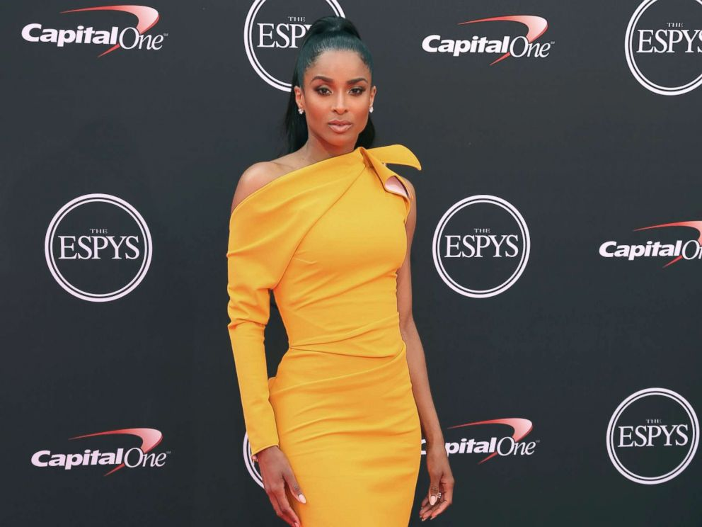 PHOTO: Ciara arrives at the ESPY Awards at Microsoft Theater, July 18, 2018, in Los Angeles.