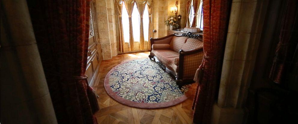 PHOTO: A look inside the Cinderella Castle suite at Walt Disney World.