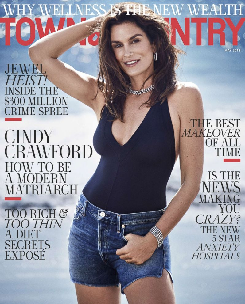 PHOTO: Cindy Crawford appears in the May issue of Town & Country