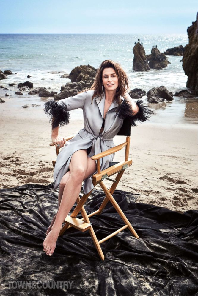PHOTO: Cindy Crawford appears in the May issue of Town & Country.