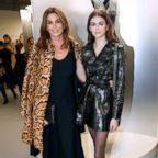 """Cindy Crawford and her daughter Kaia Gerber attend the """"Azzedine Alaia: Je Suis Couturier"""" Exhibition as part of Paris Fashion Week on Jan. 21, 2018 in Paris."""