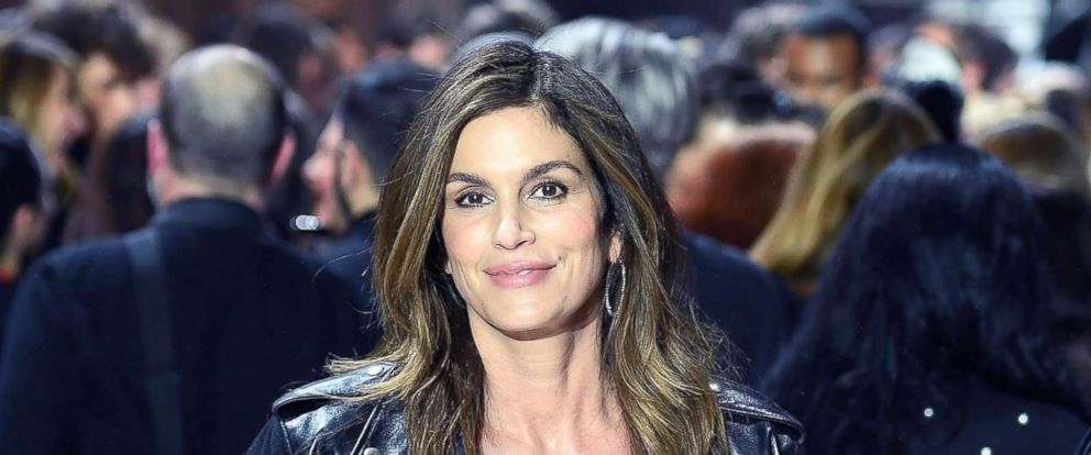 PHOTO: Cindy Crawford attends New York Fashion Week at the American Stock Exchange Building, Feb. 13, 2018, in New York.