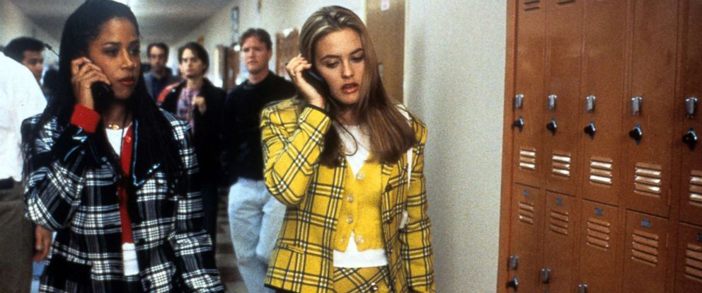 "PHOTO: Stacey Dash and Alicia Silverstone talk on their mobile phones in a scene from the film ""Clueless,"" 1995."