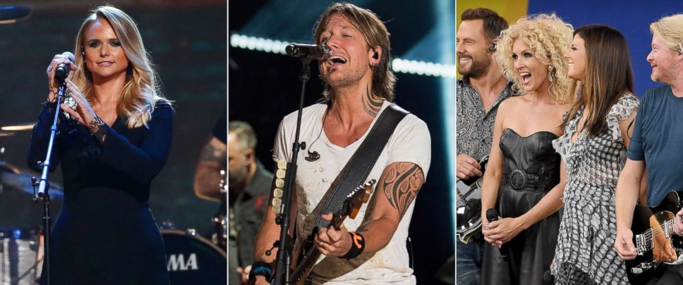 PHOTO: Miranda Lambert, Keith Urban, and Little Big Town top the list of nominees for the 51st annual CMA Awards.