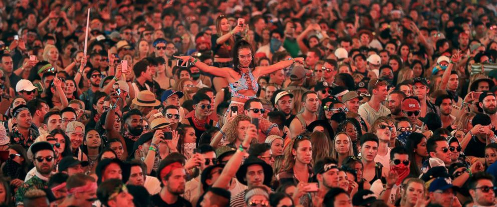 PHOTO: Festivalgoers attend the 2018 Coachella Valley Music and Arts Festival Weekend 1 at the Empire Polo Field on April 15, 2018, in Indio, Calif.