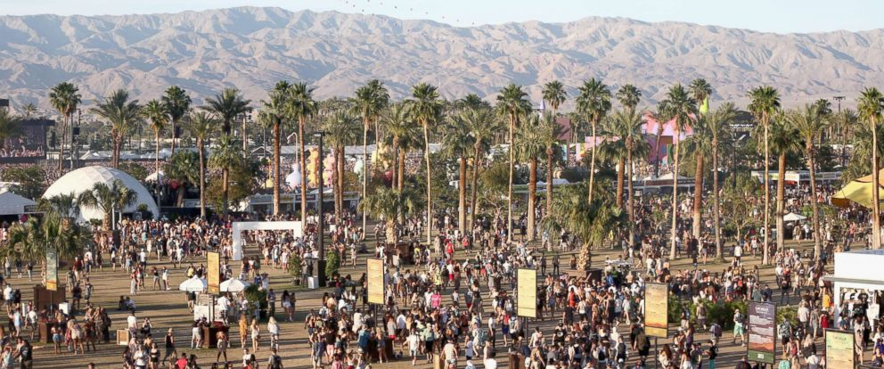 PHOTO: Festivalgoers attend day 2 of the 2017 Coachella Valley Music & Arts Festival (Weekend 2) at the Empire Polo Club, in this file photo dated April 22, 2017, in Indio, Calif.