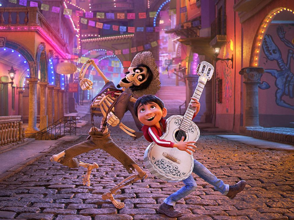 PHOTO: Gael García Bernal and Anthony Gonzalez in Coco, 2017.