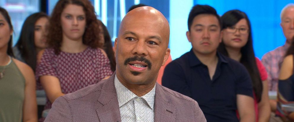 "PHOTO: Common talks to ""Good Morning America"" about his new movie ""The Tale."""