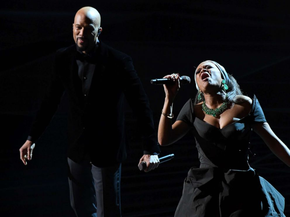 Common perform Stand Up For Something from Marshall during the 90th Academy Awards at Dolby Theatre