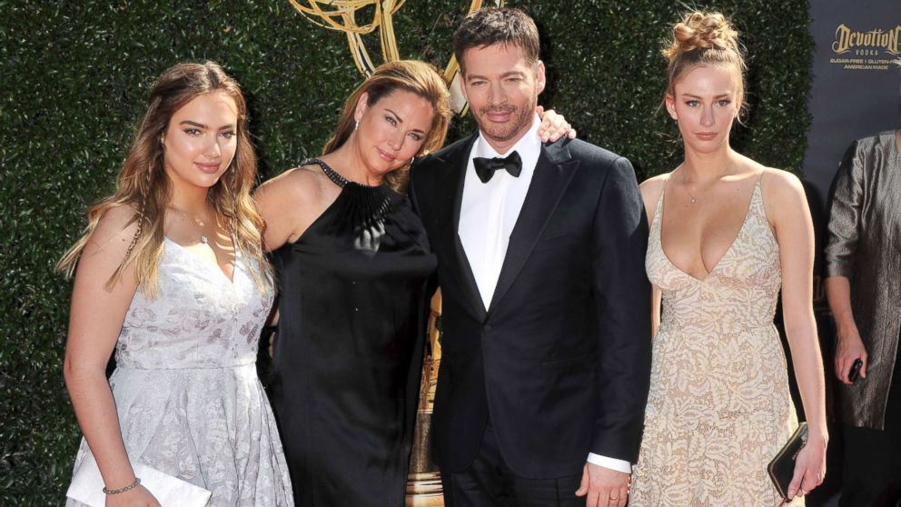 Harry Connick, Jr., wife Jill Goodacre and daughters arrive at the 44th Annual Daytime Emmy Awards at Pasadena Civic Auditorium, April 30, 2017, in Pasadena, Calif.