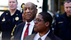 PHOTO: Bill Cosby looks around before he leaves the Montgomery County Courthouse, April 26, 2018, in Norristown, Pa. Cosby was convicted Thursday of drugging and molesting a woman in the first big celebrity trial of the #MeToo era.