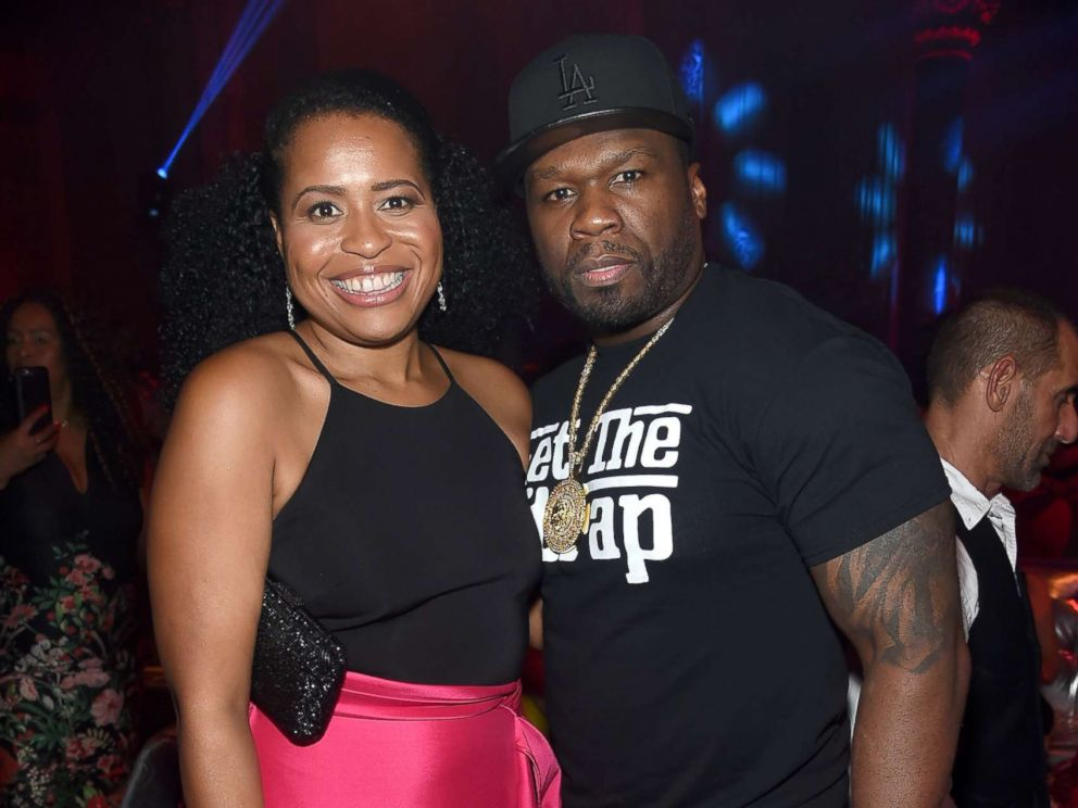PHOTO: Power Creator and Executive Producer Courtney Kemp (L) and Curtis 50 cent Jackson attend the Starz Power The Fifth Season NYC Red Carpet Premiere Event & After Party on June 28, 2018 in New York City.