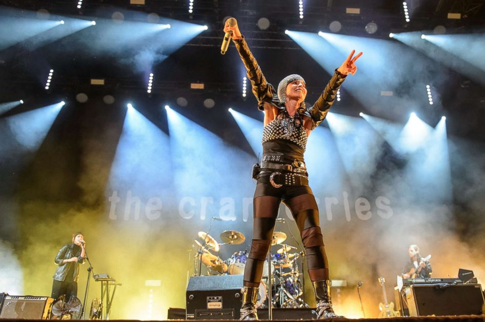 PHOTO: The singer Dolores ORiordan of the Irish group The Cranberries performs on stage during the concert in Lublin, Poland, June 3, 2016.