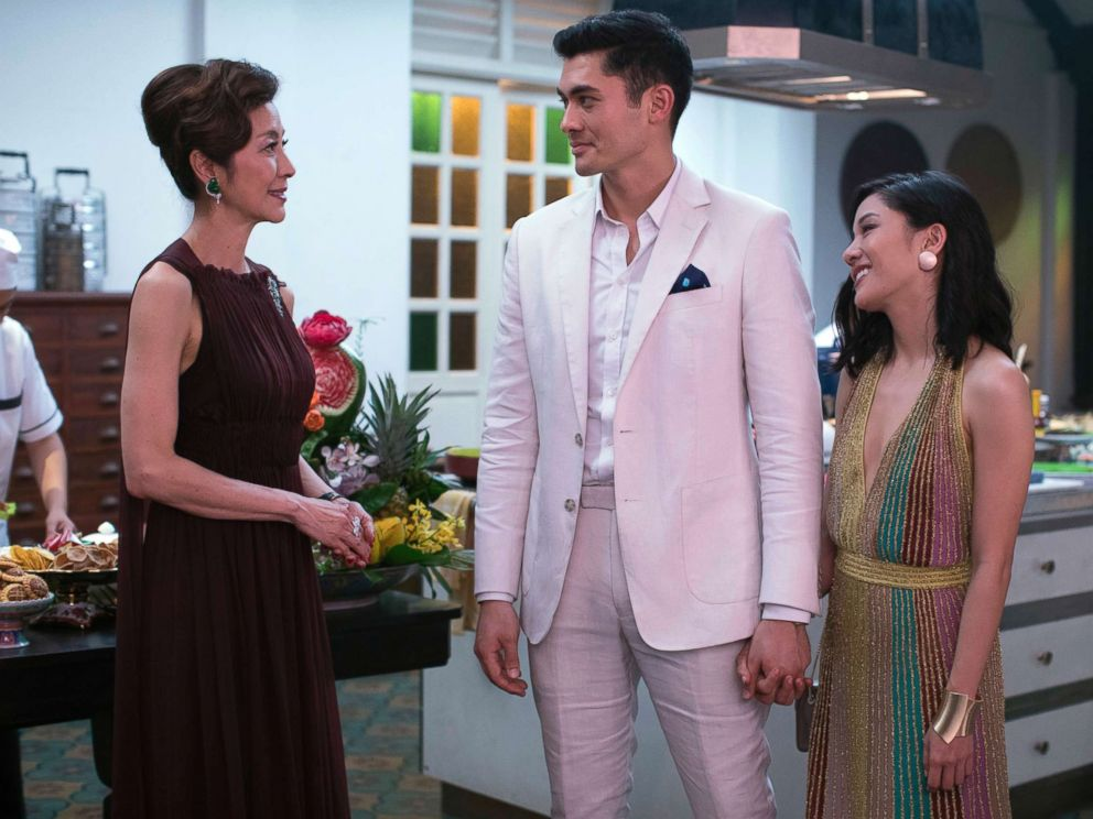 PHOTO: Pictured from left, Michelle Yeoh, Henry Golding and Constance Wu in a scene from Crazy Rich Asians.