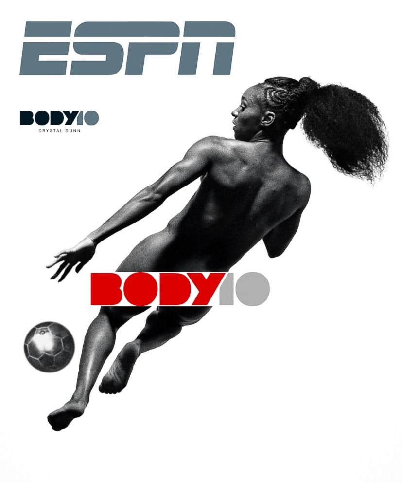 PHOTO: Soccer player Crystal Dunn poses for the 2018 ESPN The Magazine body issue.