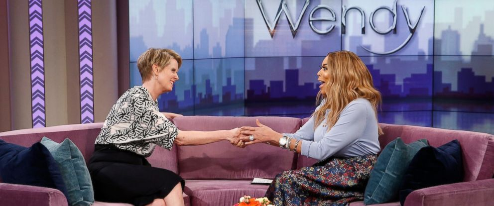 PHOTO: New York Democratic gubernatorial candidate Cynthia Nixon made her first national television appearance on The Wendy Williams Show, April 4, 2018.