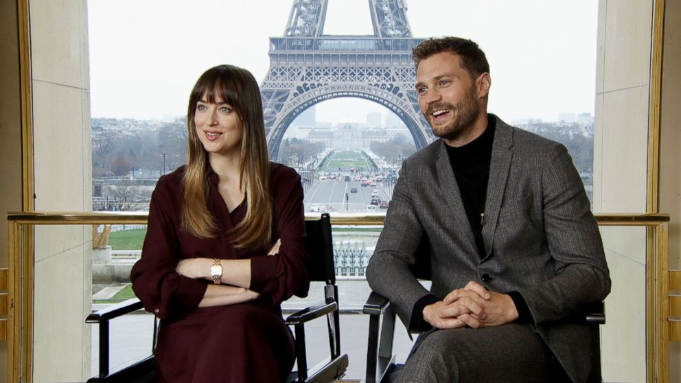 """Dakota Johnson and Jamie Dornan sat down with ABC News to discuss their new movie """"Fifty Shades Freed."""""""