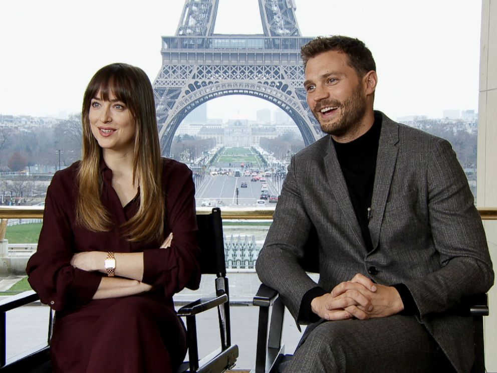 PHOTO: Dakota Johnson and Jamie Dornan sat down with ABC News to discuss their new movie Fifty Shades Freed.