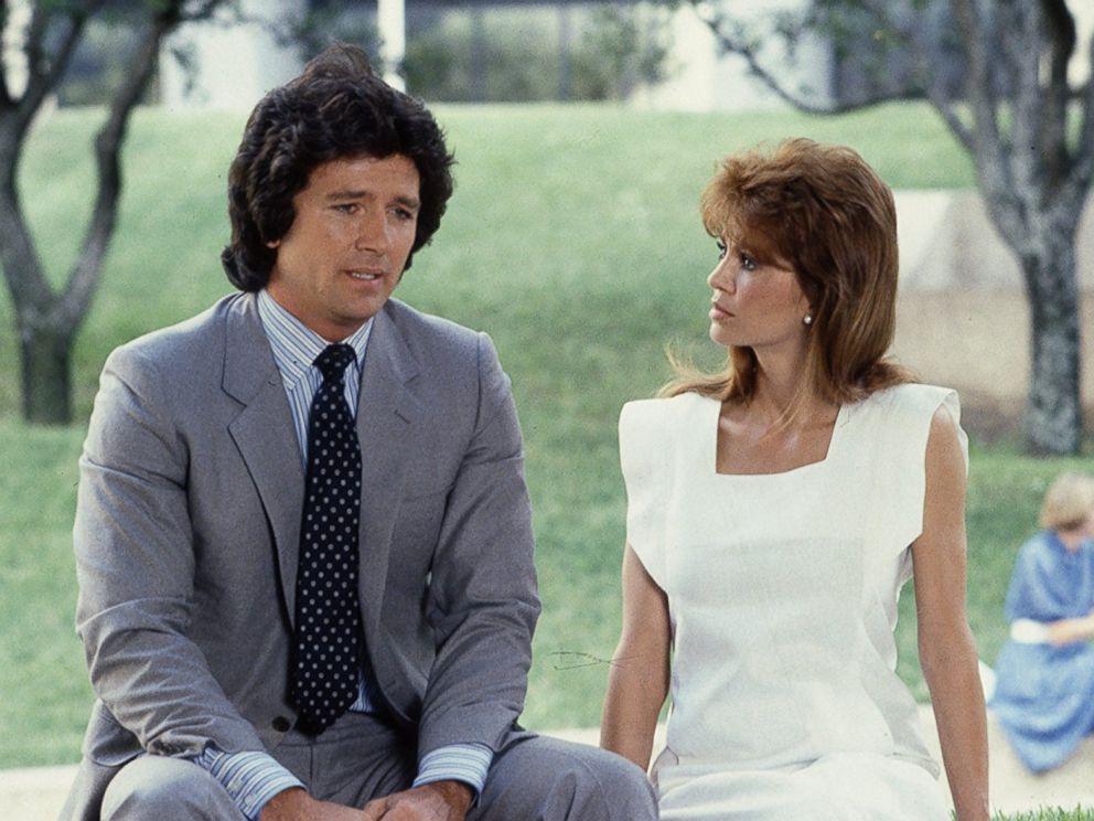 PHOTO: Victoria Principal and Patrick Duffy in the CBS TV show, Dallas in 1978.