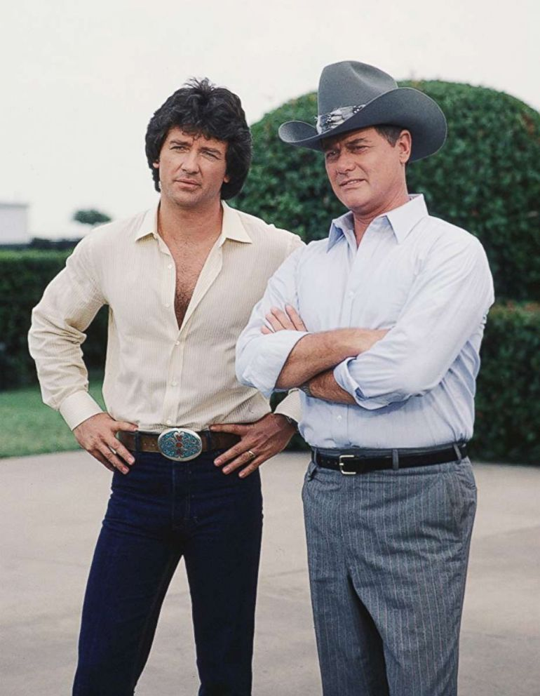 PHOTO: Patrick Duffy and Larry Hagman pictured in an unidentified episode of CBS TV show, Dallas in 1979.