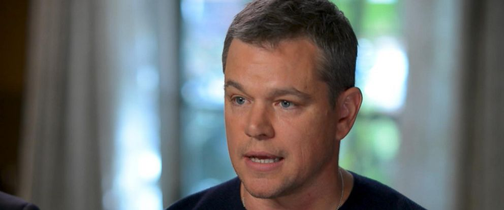 PHOTO: Matt Damon responds to the Harvey Weinstein scandal that is rocking Hollywood in an interview with ABC News Michael Strahan.