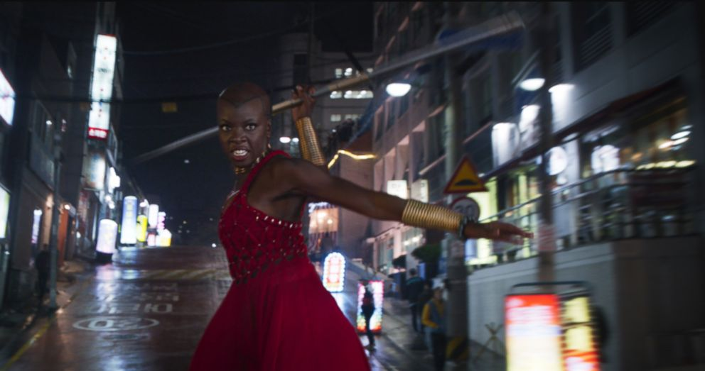 PHOTO: Danai Gurira in a scene from Black Panther.