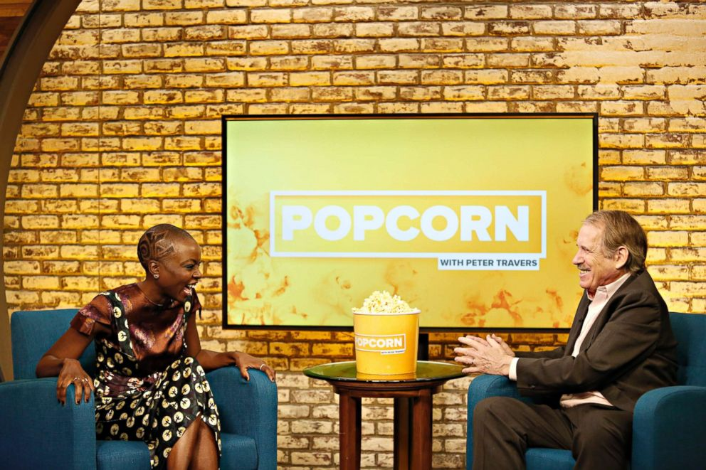 PHOTO: Danai Gurira appears on Popcorn with Peter Travers at ABC News studios, Feb. 12, 2018, in New York City.