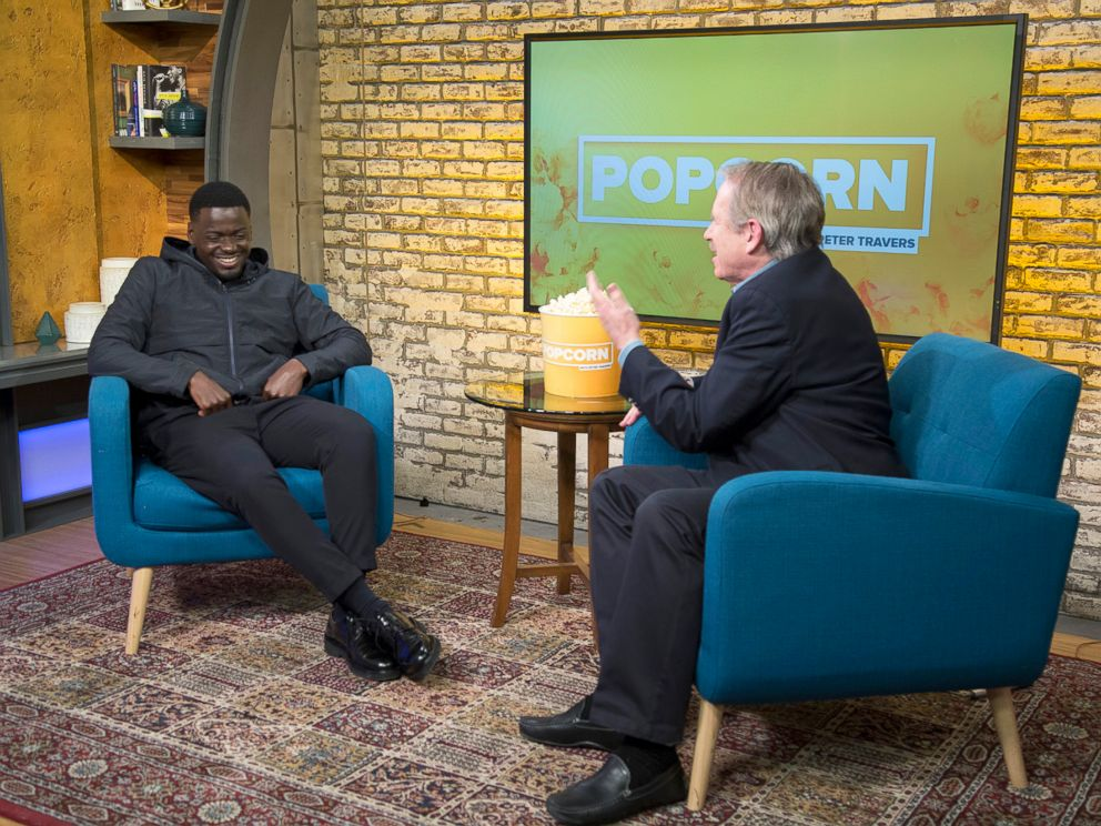 PHOTO: Daniel Kaluuya appears on Popcorn with Peter Travers at ABC News studios, Jan. 9, 2018, in New York City.