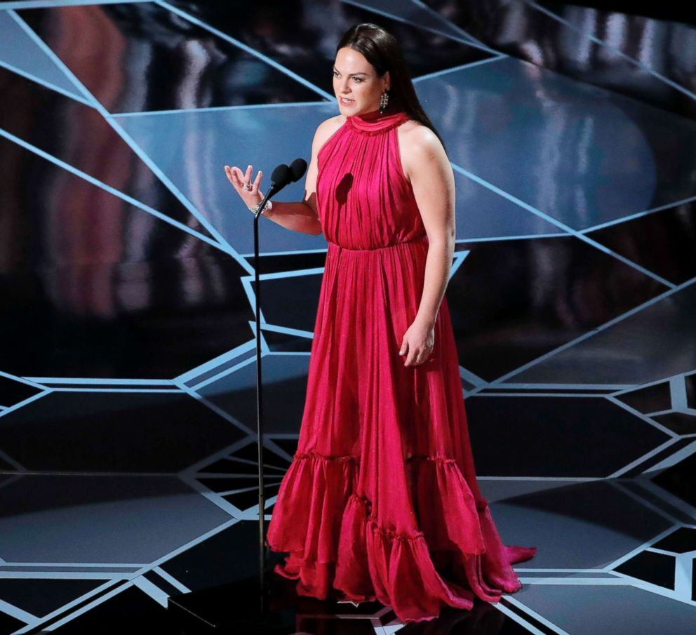 PHOTO: Daniela Vega speaks during the Academy Awards on March 4, 2018, in Hollywood, Calif.