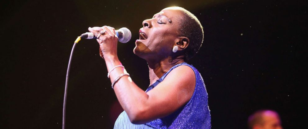 PHOTO: Sharon Jones and The Dap-Kings perform at opening night of Celebrate Brooklyn! at Prospect Park Bandshell, June 8, 2016, in New York.