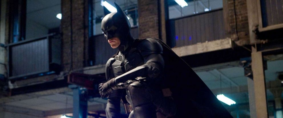 "PHOTO: Christian Bale, as Batman, in a scene from ""The Dark Knight."""