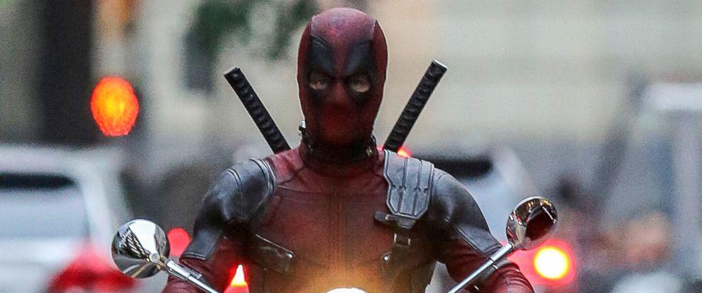 "PHOTO: Ryan Reynolds on the Vancouver set of ""Deadpool 2,"" Aug. 8, 2017."