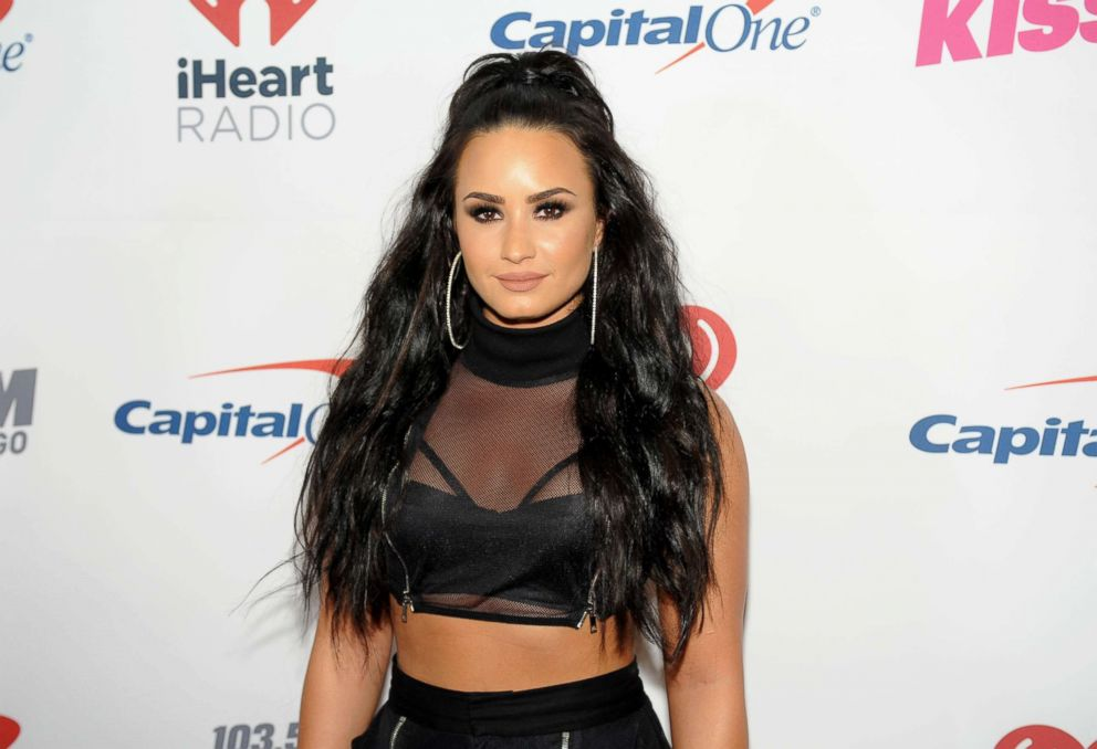 PHOTO: Demi Lovato attends 103.5 KISS FMs Jingle Ball 2017 at Allstate Arena, Dec. 13, 2017, in Rosemont, Illinois.