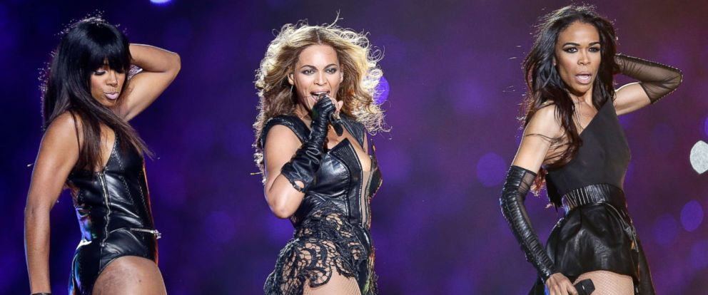 PHOTO: Kelly Rowland, Beyonce and Michelle Williams perform during the Pepsi Super Bowl XLVII Halftime Show at the Mercedes-Benz Superdome, Feb. 3, 2013, in New Orleans.