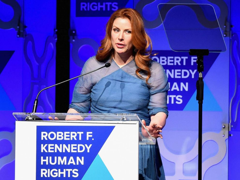 PHOTO: Actress Diane Neal speaks onstage at RFK Human Rights Ripple of Hope Awards Honoring VP Joe Biden in New York, Dec. 6, 2016.