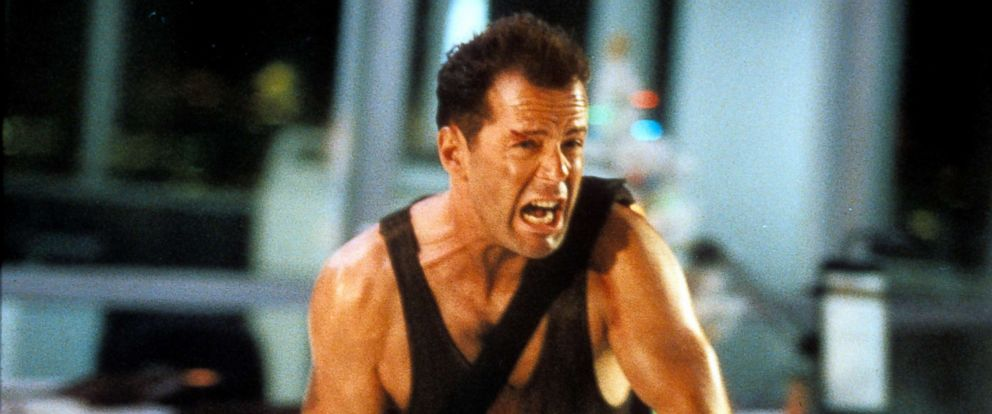 PHOTO: Bruce Willis in a scene from the film Die Hard, 1988.