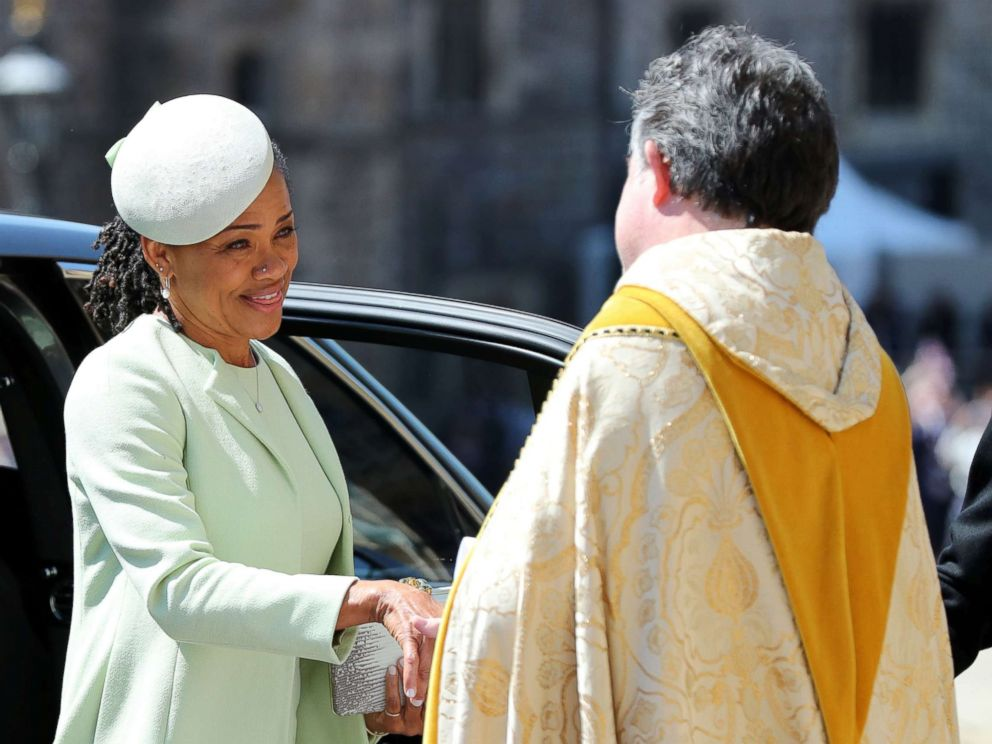 PHOTO: Doria Ragland arrives at St Georges Chapel at Windsor Castle for the wedding of Meghan Markle and Prince Harry in Windsor, May 19, 2018.