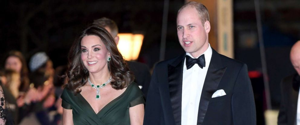 PHOTO: Catherine, Duchess of Cambridge and Prince William, Duke of Cambridge attend the EE British Academy Film Awards (BAFTAs) held at the Royal Albert Hall, Feb. 18, 2018 in London.