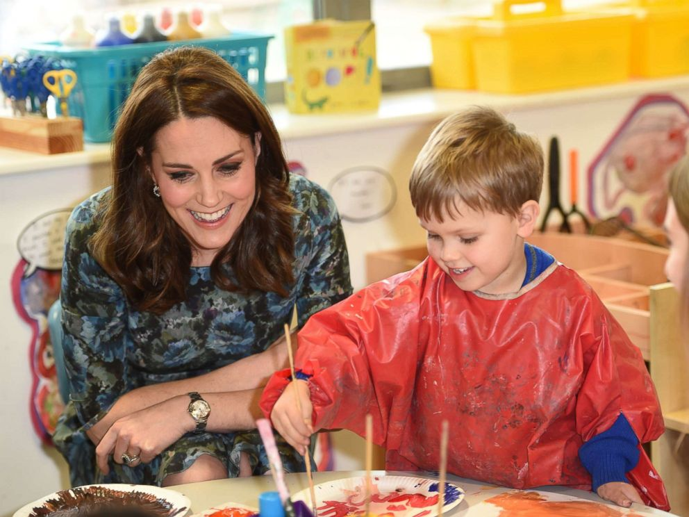 PHOTO: Catherine, Duchess of Cambridge, visits the Reach Academy Feltham, a school working in partnership with Place2Be and other organizations to support children, families and the whole school community, Jan. 10, 2018, in London.