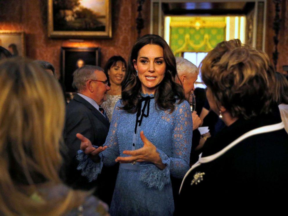 PHOTO: Catherine Duchess of Cambridge celebrates World Mental Health Day at Buckingham Palace in London, Oct. 10, 2017.