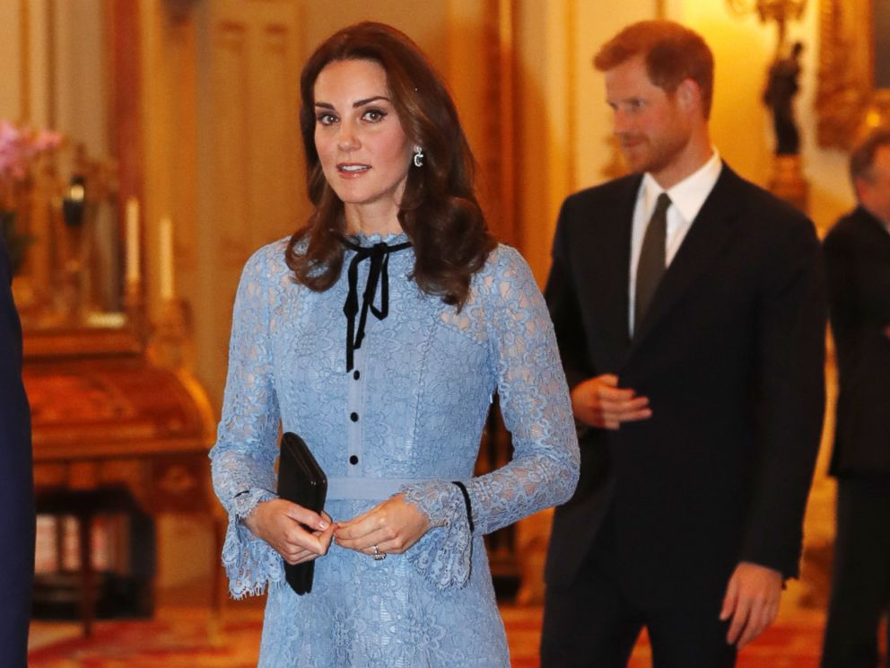 PHOTO: Britains Catherine, Duchess of Cambridge attends a reception at Buckingham Palace to celebrate World Mental Health Day in central London, Oct. 10, 2017.