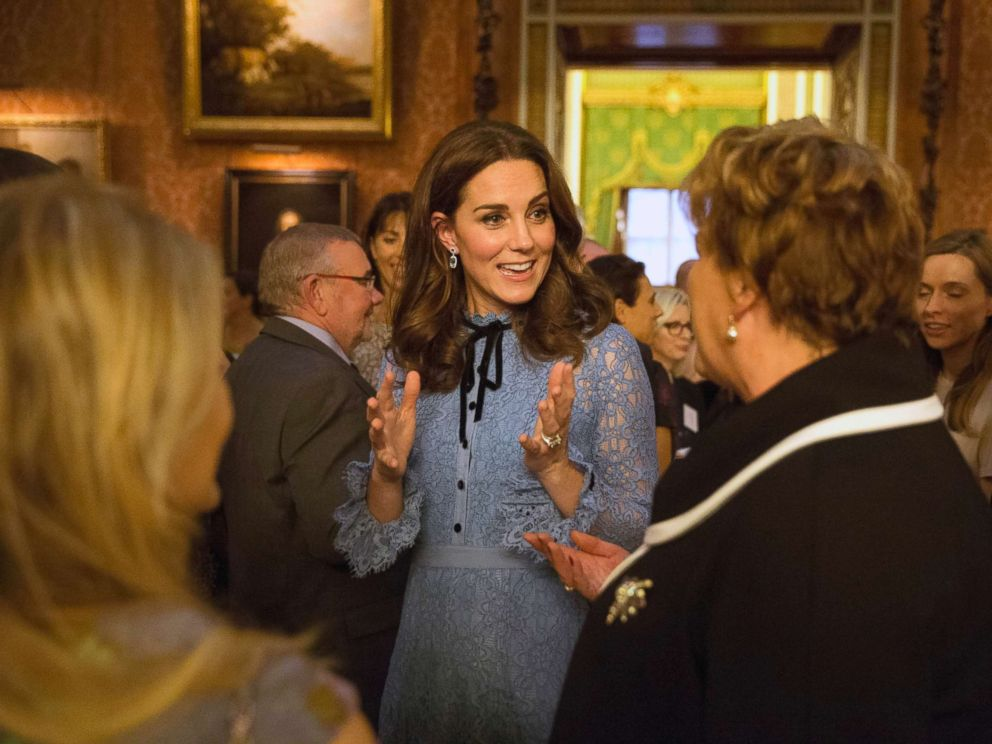 PHOTO: Prince William, Catherine Duchess of Cambridge and Prince Harry at a World Mental Health Day reception at Buckingham Palace in London, Oct. 10, 2017.