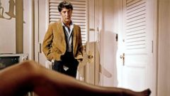 'PHOTO: Dustin Hoffman, as the young naive Ben Braddock, and Anne Bancroft, as the seducing neighbor next door.Mrs. Robinson, in a scene from' from the web at 'https://s.abcnews.com/images/Entertainment/dustin-hoffman-graduate-1967-gty-jef-170807_1_16x9t_240.jpg'