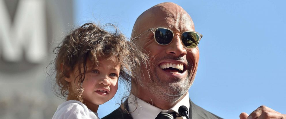 PHOTO: Dwayne Johnson and daughter Jasmine Johnson attend the ceremony honoring him with star on the Hollywood Walk of Fame, Dec. 13, 2017 in Hollywood.
